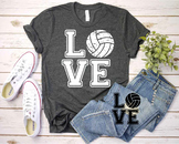 Love Volleyball svg Elf sweater ball gift mom Christmas valentine's day 1160s