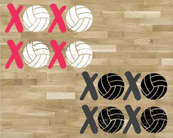 XOXO Volleyball svg Love sweater ball gift mom Christmas valentine's day 1171s