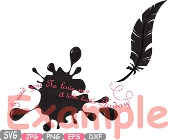 Love Vows clip art Feathers Wings Ink dream lyrics memorial quote Valentine 215s