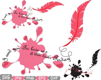 Love Vows clip art Feathers Wings Ink dream lyrics memoria