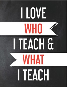 Love Who I Teach Poster