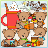 Love You A Latte Bears Clip Art (Autumn / Fall Teddy Bears