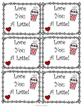Teacher Gift Tags- Love You A Latte