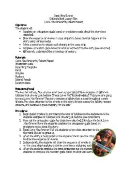 Love You Forever Sequencing Lesson Plan