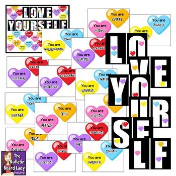 Love Yourself  Positive Self Talk Bulletin Board
