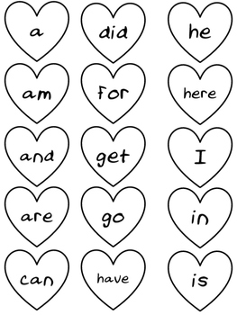 Love Zoo: A Valentine Sight Word Bundle for Kindergarten
