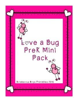 Love a Bug PreK Printable Learning Pack