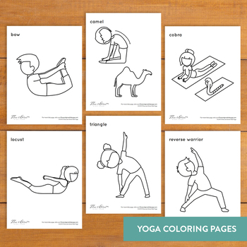 Love and Compassion Yoga Coloring Pages