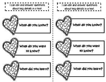 Valentine's Day Supplements for Interactive Literacy Notebooks (Love & Cupcakes)