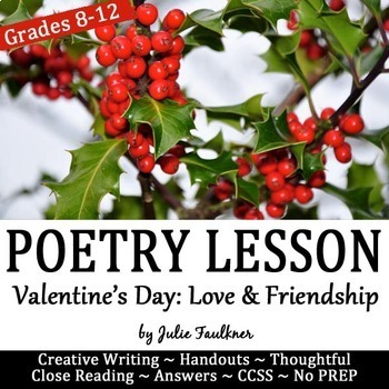 "Valentine's Day for Secondary ELA Poetry Lesson: Bronte's ""Love & Friendship"""