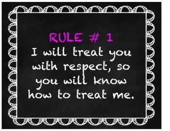 Love and Logic Rules in Chalkboard