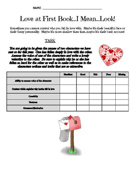Love at First Book...I Mean...Look!: A Fun Valentine's Day Activity