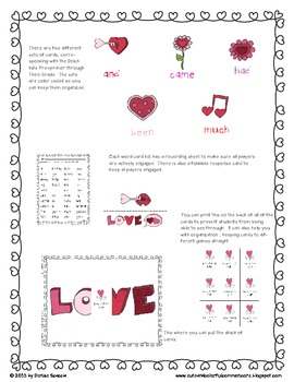 Love at First Sight:  A Sight Word Game for Valentine's Day