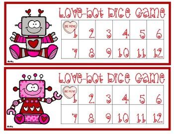 Love-bots Dice Game