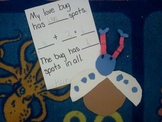 Love bug addition craft template
