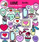 Love doodles-Valentine's Day- Free!
