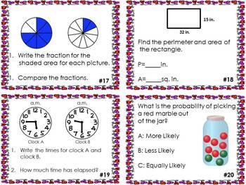 Love for Math: Math Task Cards for Test Prep