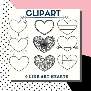 Love heart clip art valentines day sweet clipart