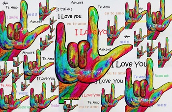 Love in Any Language - including ASL! - POSTER