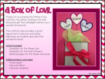 Love in a Box - a Mother's Day Craftivity