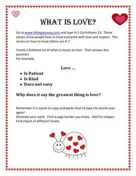 Love is Caring for Others Webquest