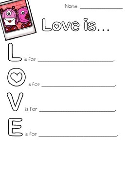 Love is... Poem for Valentine's Day