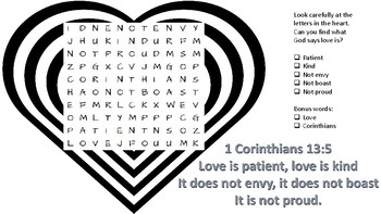 Love is... Word search