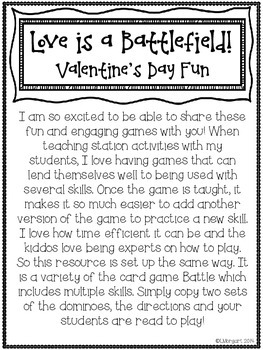 Love is a Battlefield! Multi-Operational Math Games for Valentine's Day