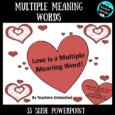 Multiple Meaning Words PowerPoint Lesson {Valentine's Day}