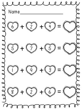 Love is in the Air 3-Digit Addition