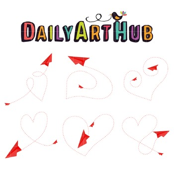 Love is in the Air Art Clip Art - Great for Art Class Projects!
