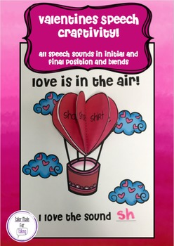Love is in the Air - Speech Craftivity