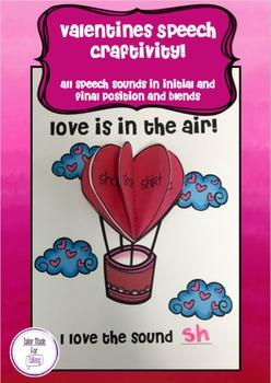Love is in the Air - Speech Craftivity
