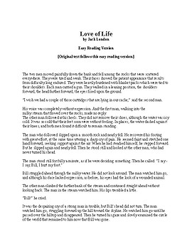 Love of Life by Jack London - Easy Reading Version