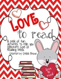 Love of Reading Week Activity Pack