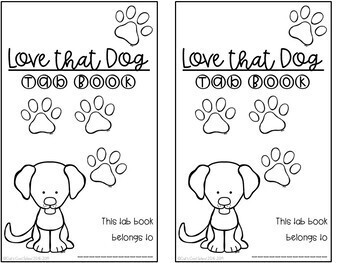 Love that Dog Interactive Tab Book