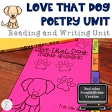 Love that Dog Poetry Unit Tab Book with Google™ Version