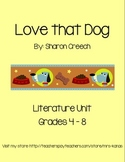 Love that Dog - Novel Study & Literature Unit