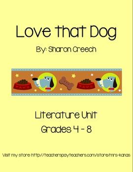 Love that Dog - Novel Study & Literature Unit