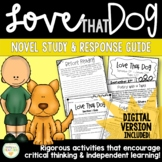 Love that Dog   Novel Study & Resource Guide   Distance Le