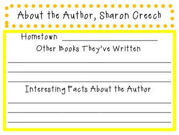 Love that Dog by Sharon Creech: Characters, Plot, Setting