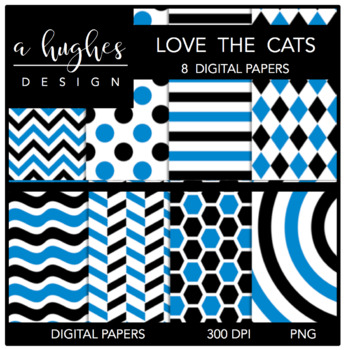 12x12 Digital Paper Set: Love The Cats {A Hughes Design}