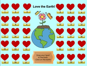 """""""Love the Earth"""" Earth Day Themed SMART Board Attendance Activity w/ SOUND"""
