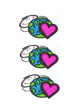 Love the World Clip Art