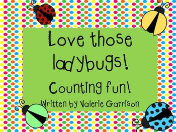 Love those ladybugs! Fun early childhood math! Updated! Now with b/w printables.