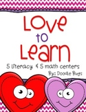 Love to Learn Valentine's Day Centers {5 Literacy & 5 Math}