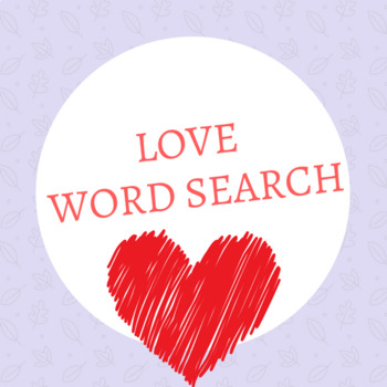 Love word search