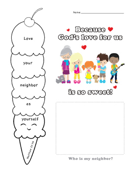 Love Your Neighbor Ice Cream Activity