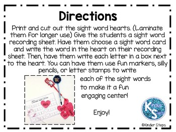 Loveable Sight Words