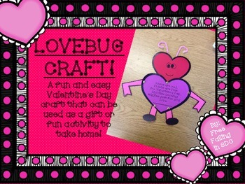Lovebug Craft (A Valentine's Day craft & gift)
